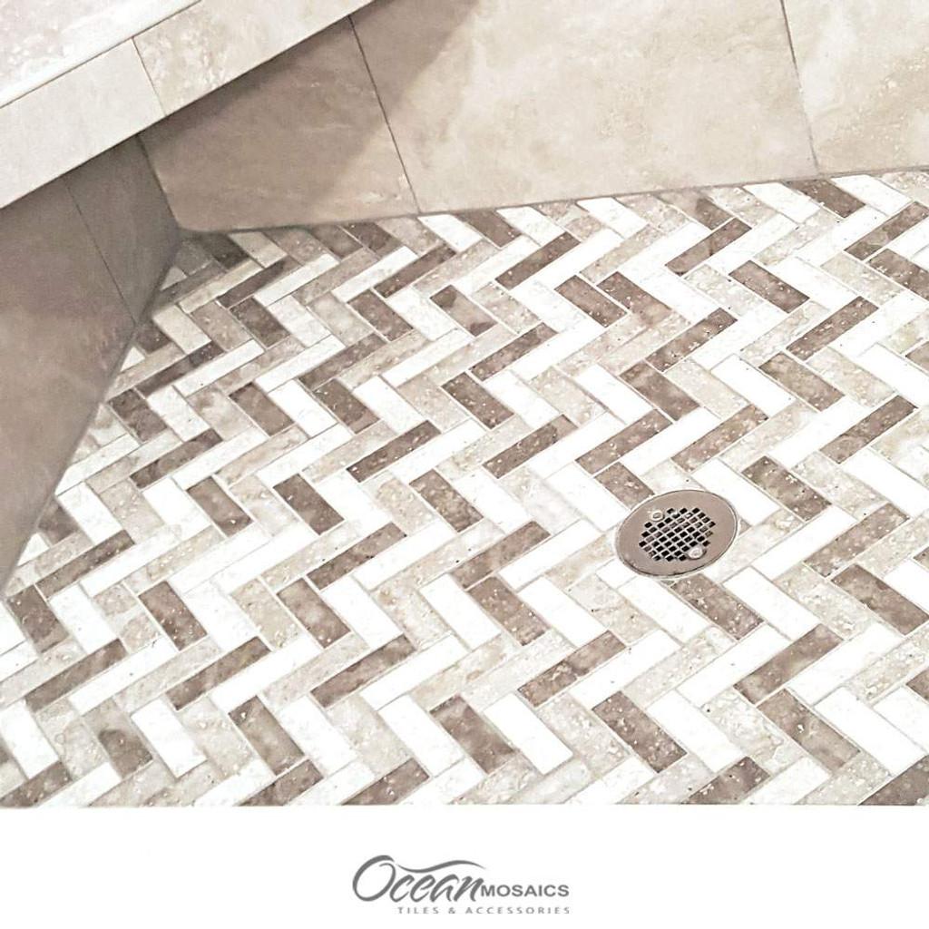 Spigacycle Silver Mix Shower Floor Tile