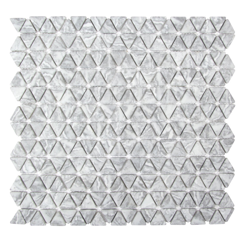 Triangle Natural Grigio Recycled Glass Tile