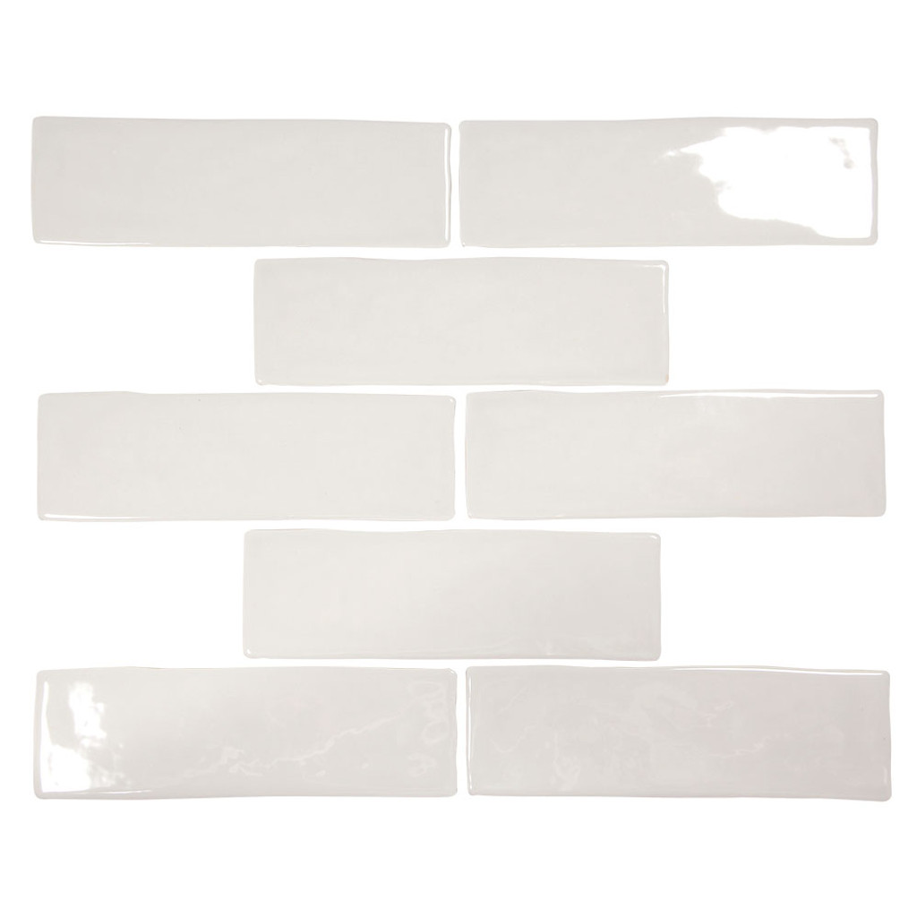 Pastel Light Grey Glossy 2x8 Porcelain Subway Tile