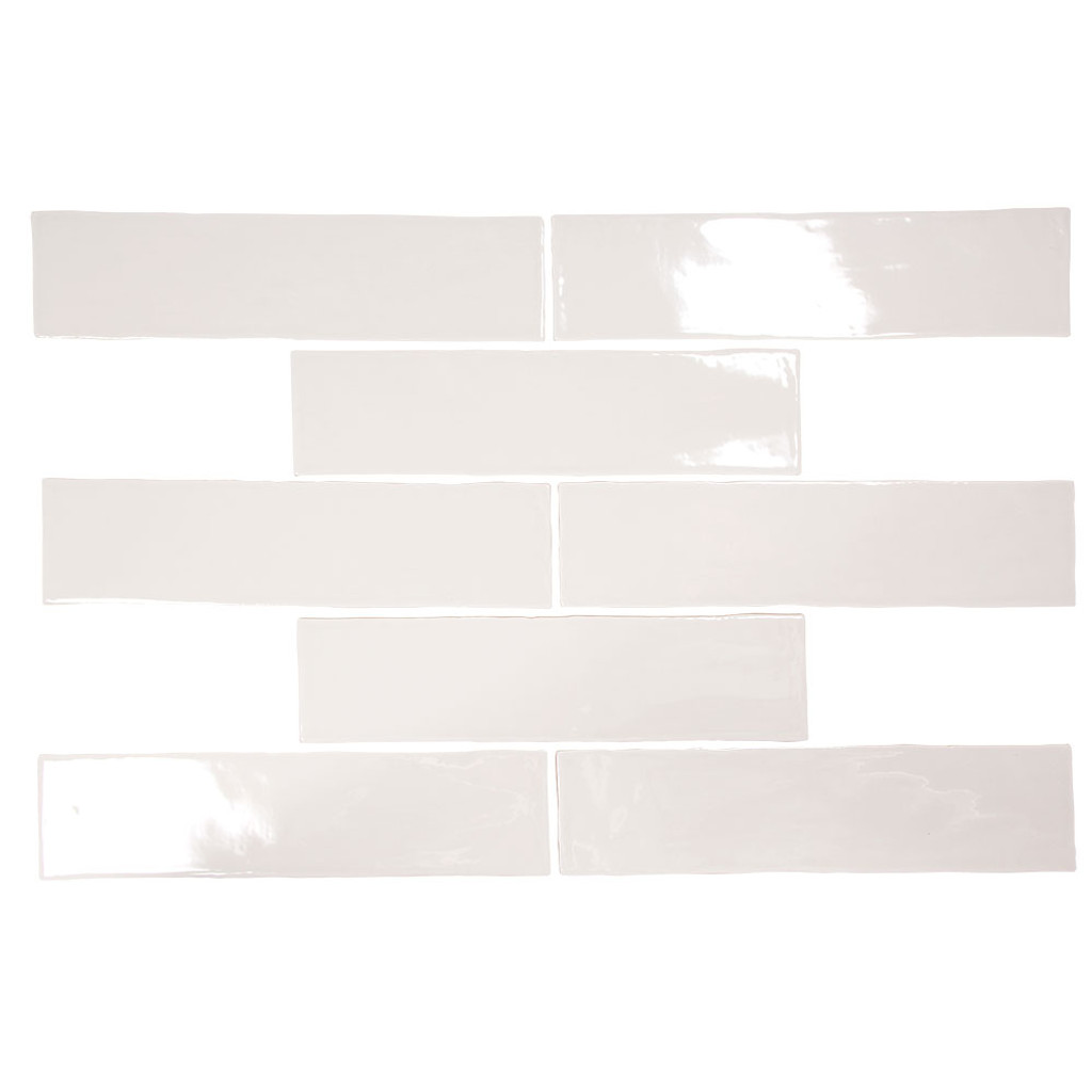 Pastel Light Grey Glossy 3x12 Porcelain Subway Tile - Box of 5.5 Sq. Ft.