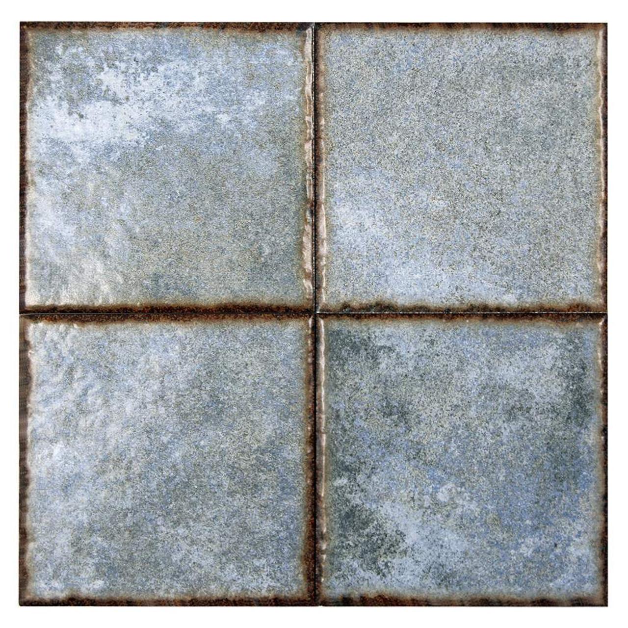 Benisa Blue Porcelain 6x6 Pool Grade Tile