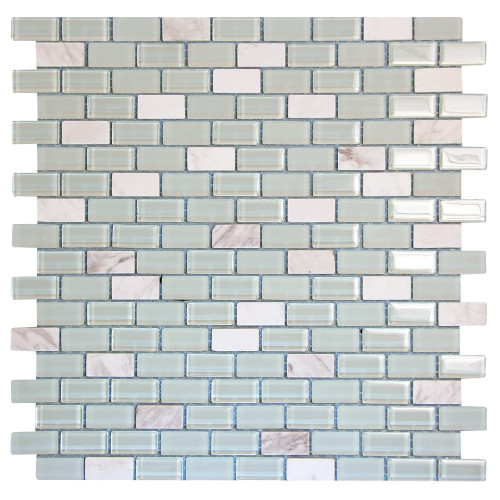 Basic Cross White Mosaic Glass Tile