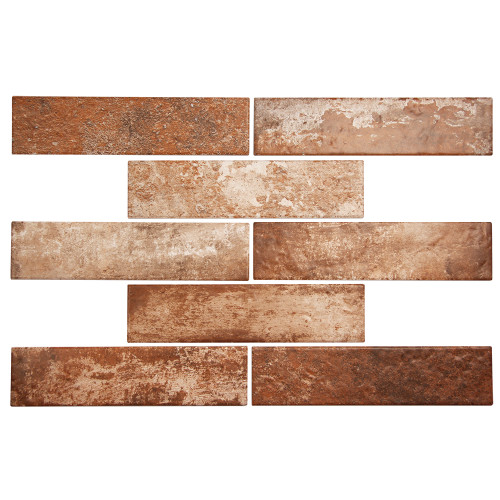 Broadway Brick Red 3x6 Porcelain Subway Tile