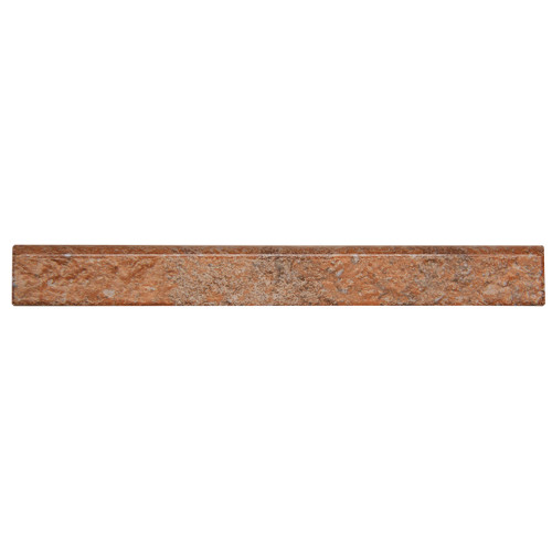 Broadway Porcelain Bullnose Brick Red