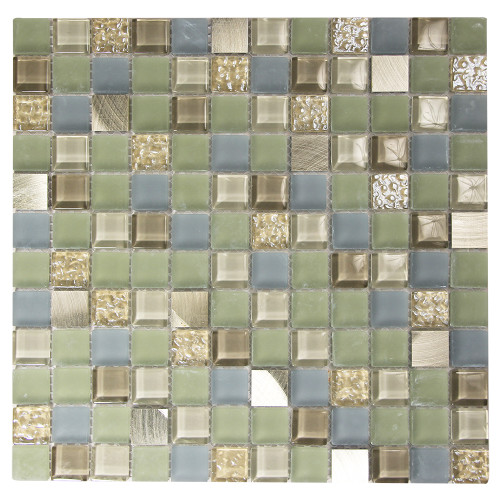 Coeus Majestic Green Mosaic Glass Tile