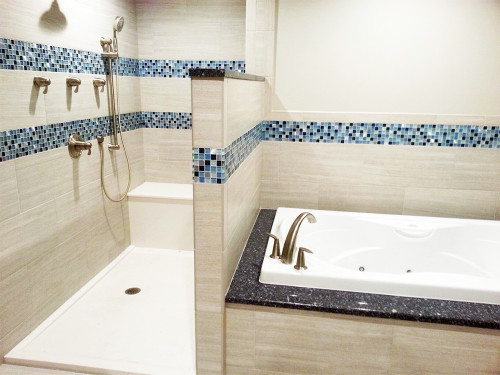 coeus majestic blue mosaic bathroom
