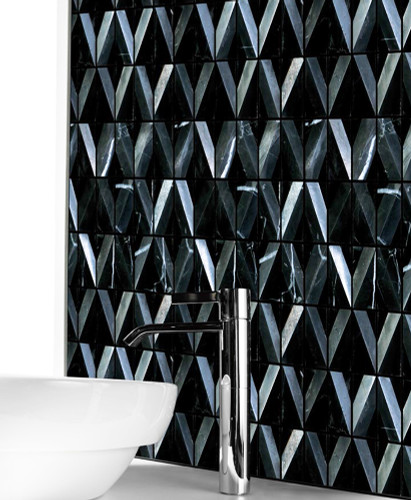 diamond marquina black marble tile