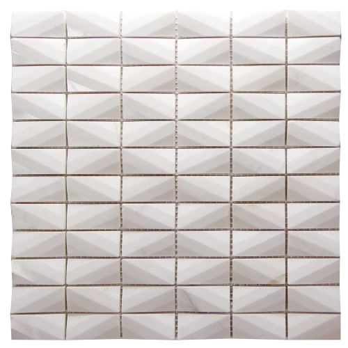 Diamond Volakes White Marble Tile