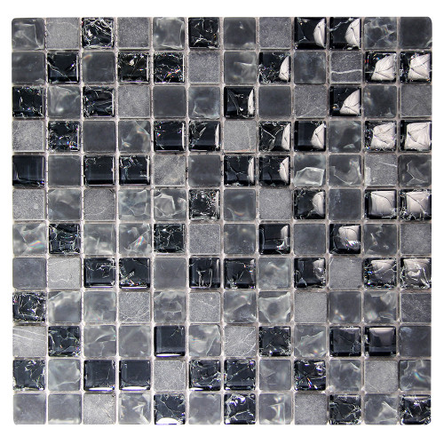Electra GMC 4 Black Mosaic Glass Tile