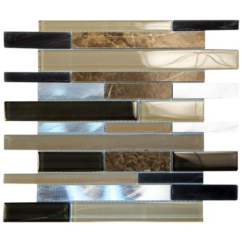 Eternital Brown Mosaic Glass Tile