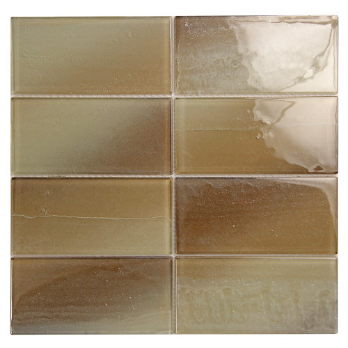 Extant Beige 3x6 Pool Mosaic Glass Tile