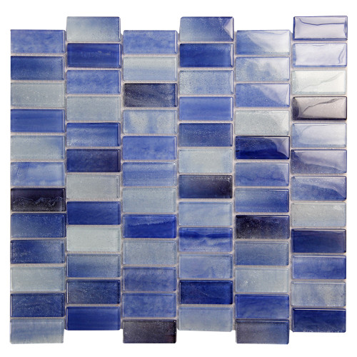 Extant Blue 1x2 inch Pool Mosaic Glass Tile