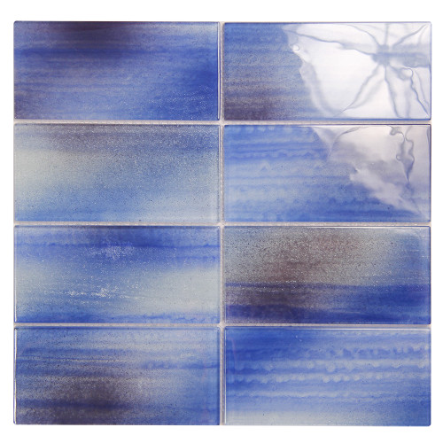 Extant Blue 3x6 Pool Mosaic Glass Tile