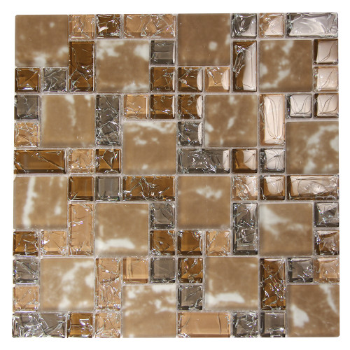 French Pattern Crius 4 Mosaic Glass Tile