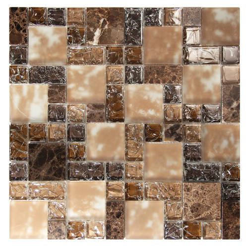French Pattern Crius 6 Mosaic Glass Tile
