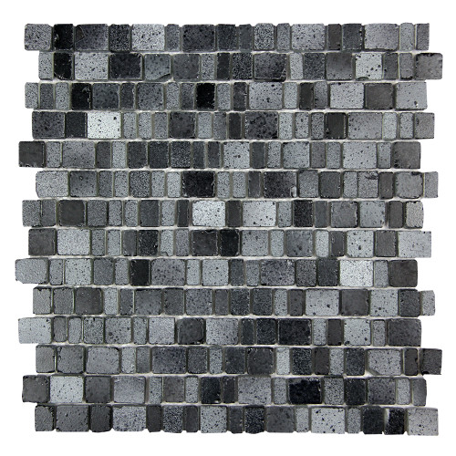 Ice Age Coal Mosaic Glass Tile