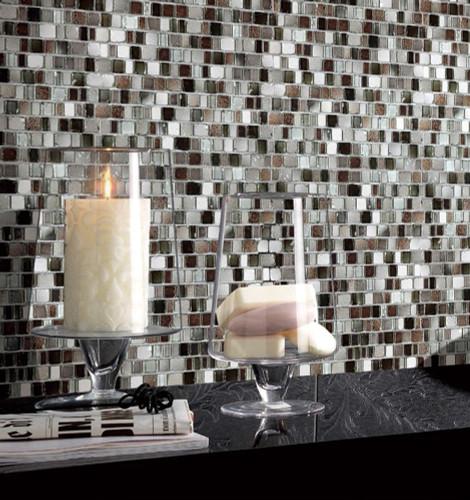 ice age muskox mosaic glass tile