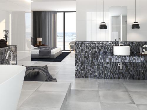 kappa quartz mosaic bathroom backsplash