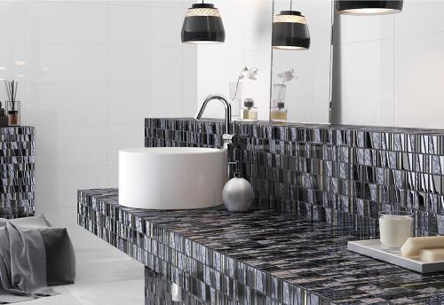 kappa quartz mosaic glass tile