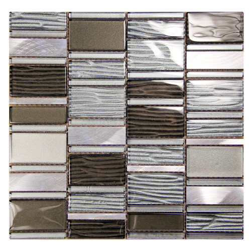Loft Grey Mosaic Glass Tile