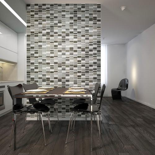 loft grey mosaic wall