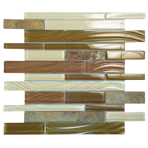 Milan Beige Mosaic Glass Tile