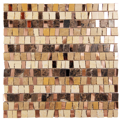 Mont Blanc Spanish Mix Mosaic Glass Tile