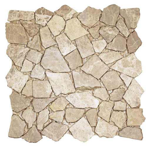 Nuur Light Emperador Mosaic Stone Tile