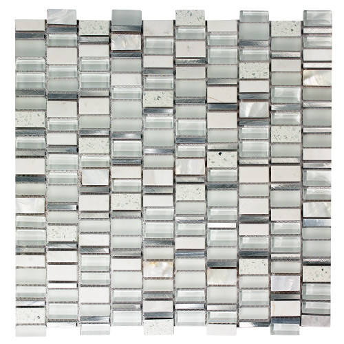 Ole Blanco Mix Glass, Metal & Stone Mosaic Tile