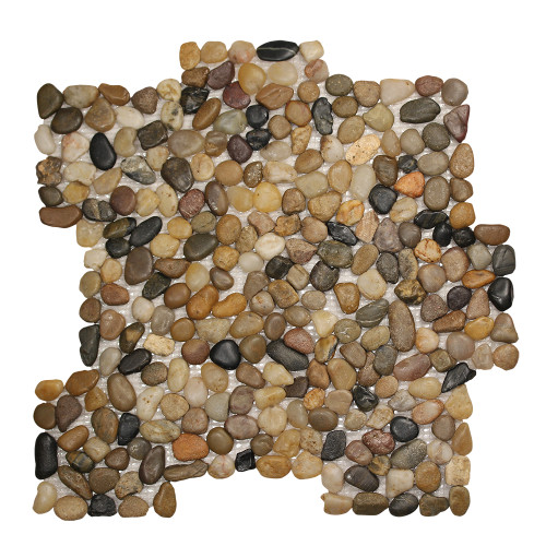 Pebble Stone Small Round Mixed Tile