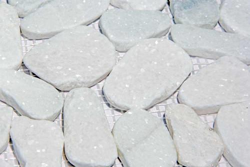 pebble stone sliced close up