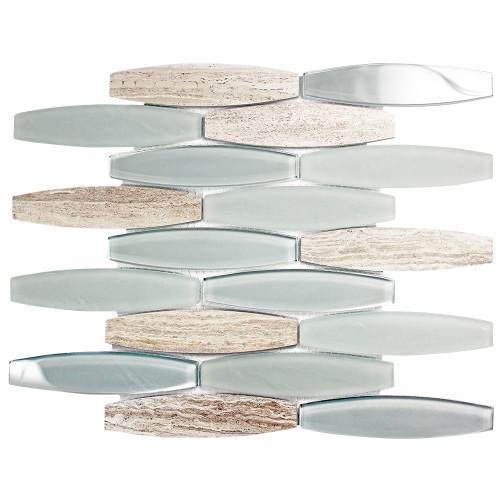 Radiant Grigio Mosaic Glass Tile
