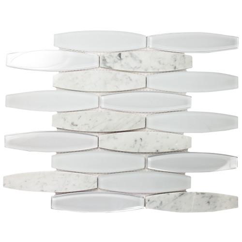 Radiant Blanco Mosaic Glass Tile