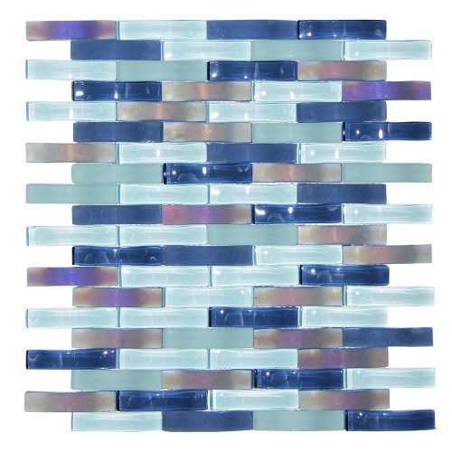 Ripple Stream Wavy Mosaic Glass Tile