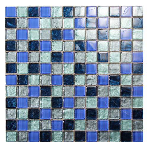 Splash Grey MOS#1 Glass Pool Tile