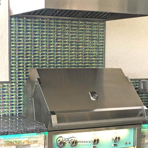 Woven Curved Georgette Outdoor Kitchen Backsplash