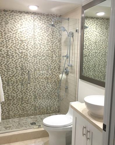 agata shell mix silver bathroom