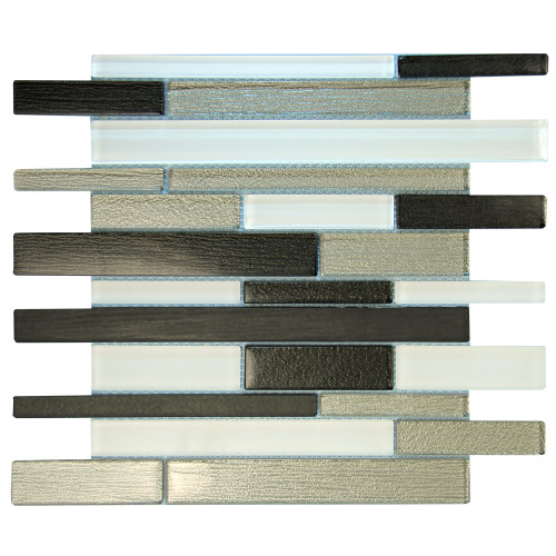 Anora Grey Mosaic Glass Tile
