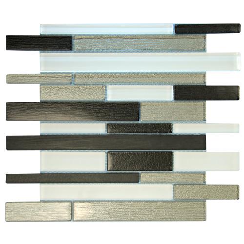 Anora Grey Mosaic Glass Tile