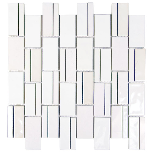 Mirada 73 White Ceramic and Marble Tile