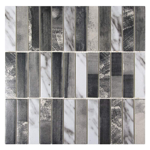 Ninecycle Grey Linear Recycled Glass Tile