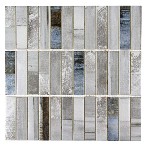 Ninecycle Ash Linear Recycled Glass Tile