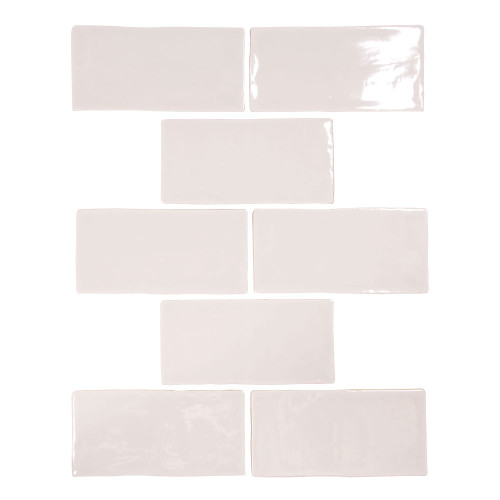 Pastel Light Grey Glossy 3x6 Porcelain Subway Tile