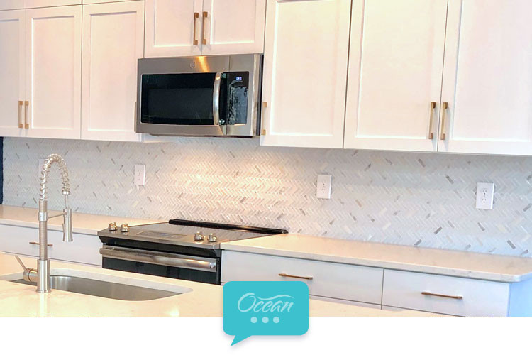White Kitchen Backsplash A Popular Design Inspiration Ocean Mosaics