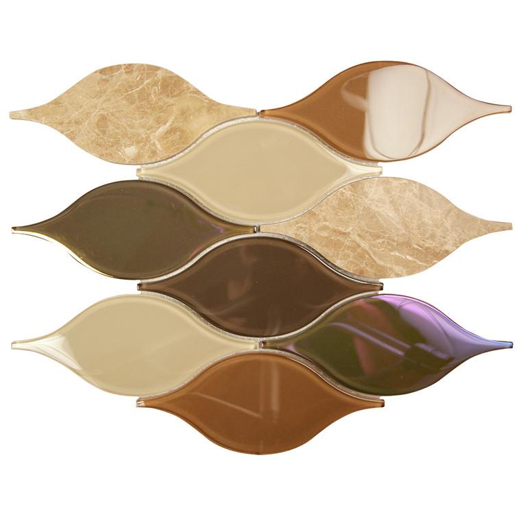 Chandelier Emperador Teardrop Glass Mosaic Tile
