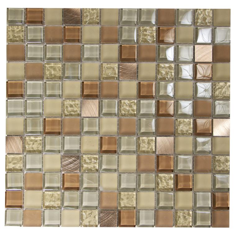 Coeus Majestic Tan Mosaic Glass Tile