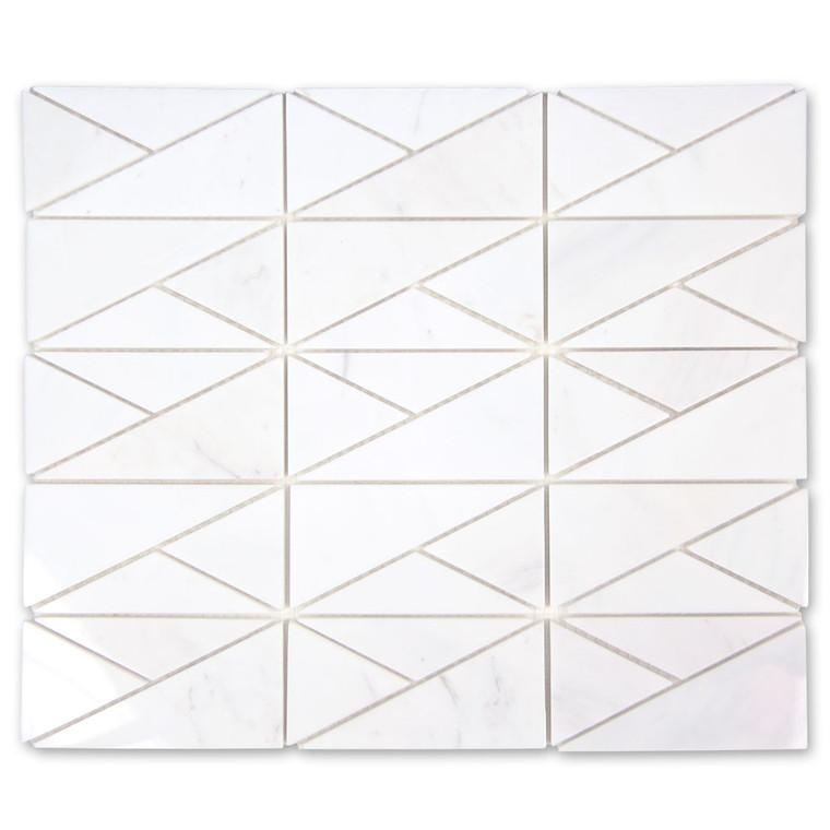 Bahia Volakas Triangle Geometric Marble Tile
