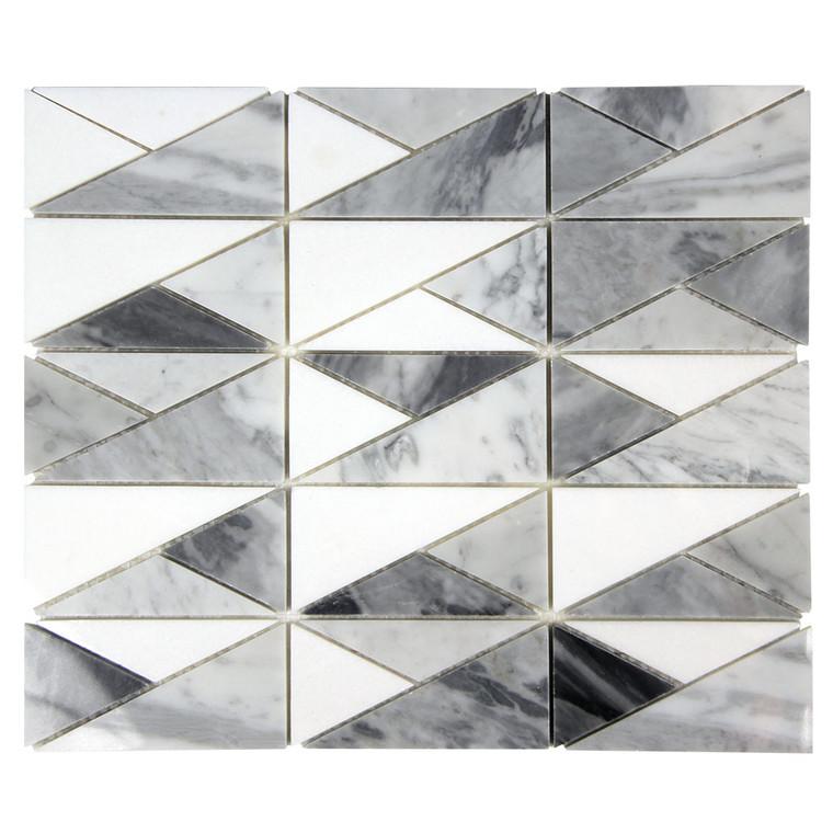 Bahia Marmara Triangle Geometric Marble Tile