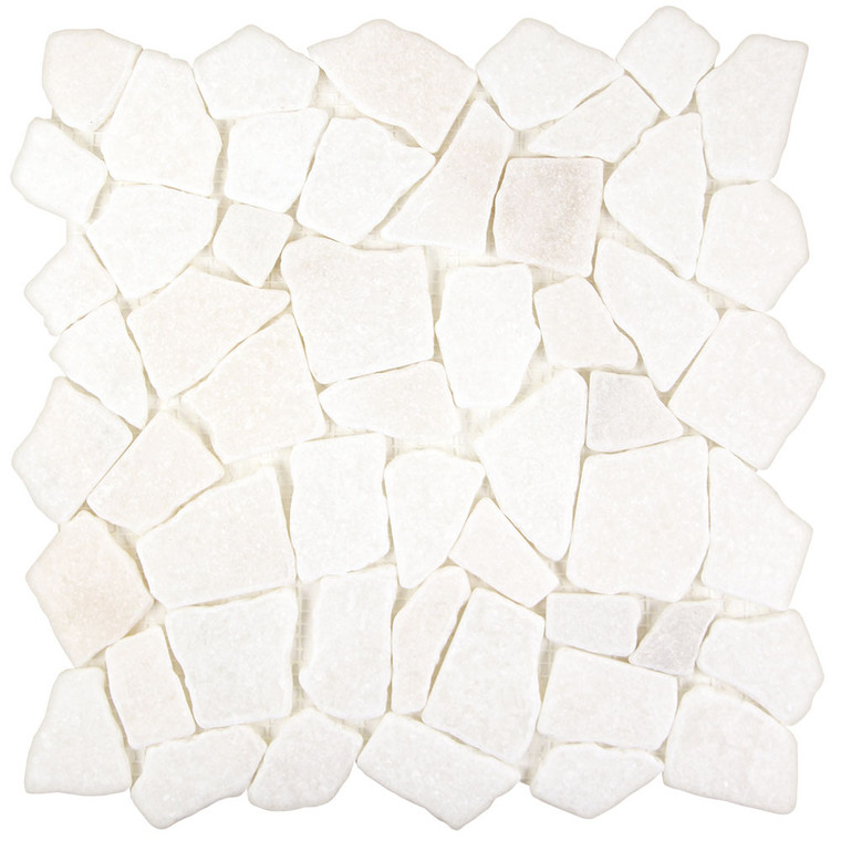 Arctic Stone Snow White Flat Stone Tile