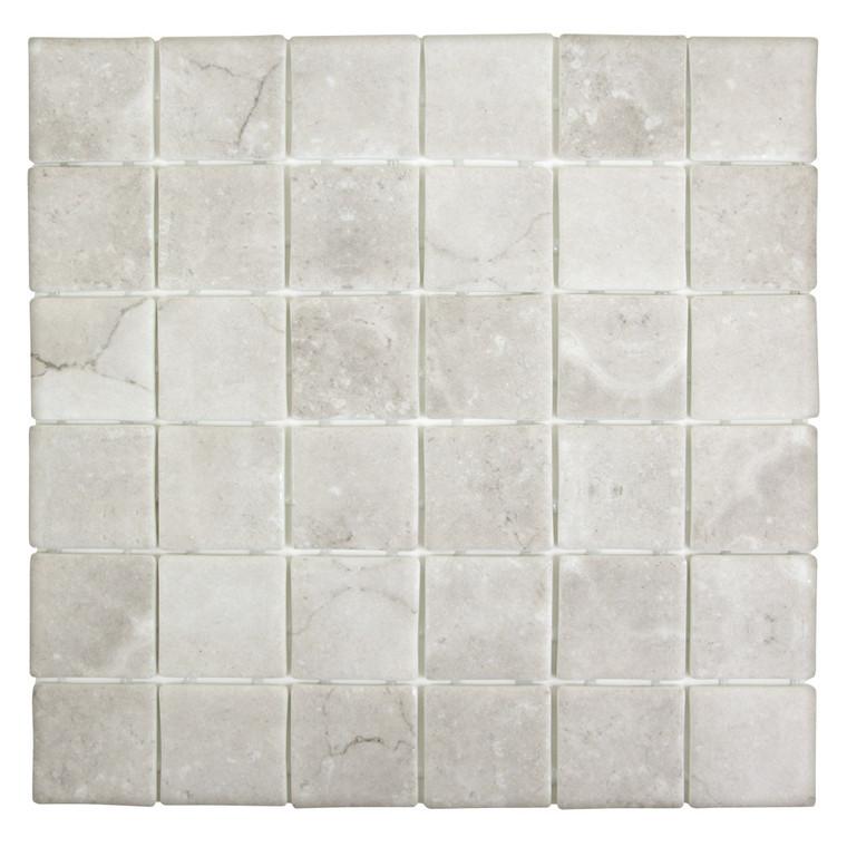 Sandbar Square Grey 2x2 Recycled Glass Tile